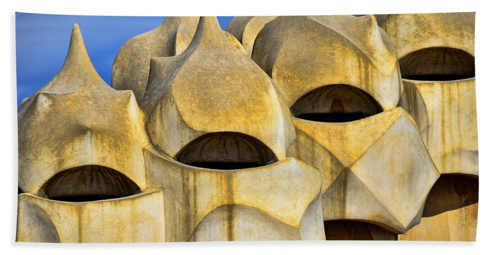 Spain Beach Towel featuring the photograph Soldier Chimneys by Jack Daulton