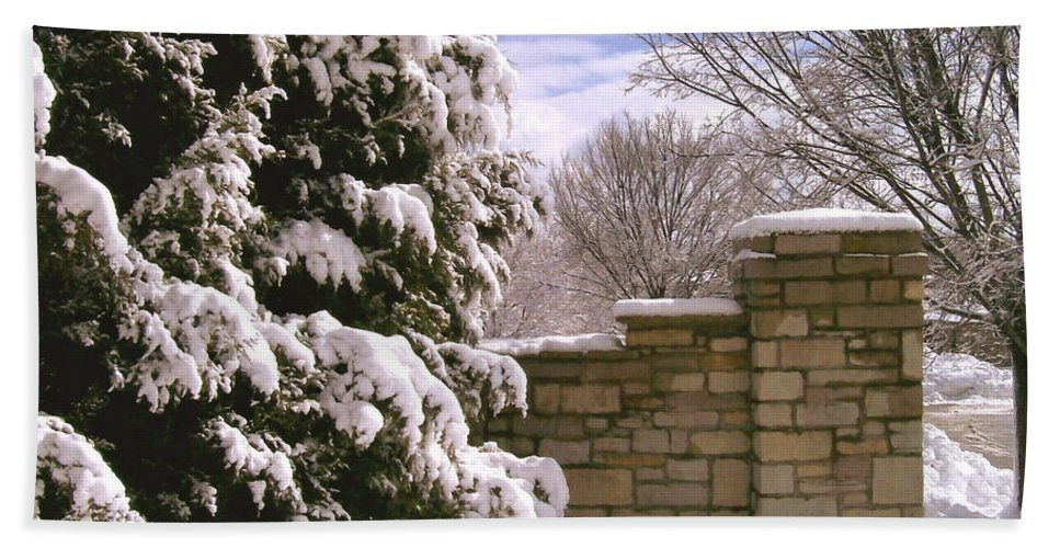 Snow Beach Towel featuring the photograph Solid Winter by Laurie Eve Loftin