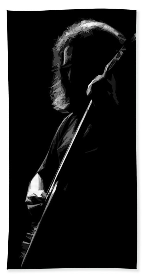 Jerry Garcia Beach Towel featuring the photograph Solo Garcia 1 by Ben Upham