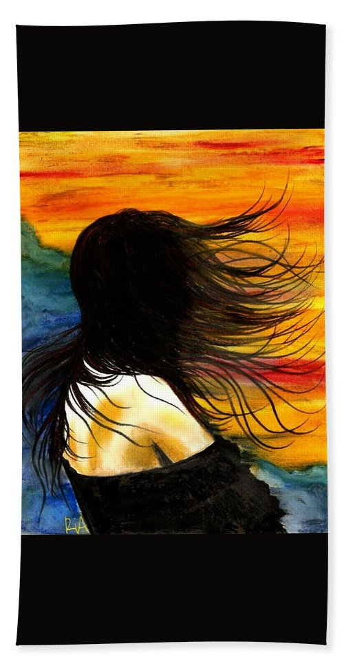 Beautiful Beach Towel featuring the photograph Solo Mood by Artist RiA
