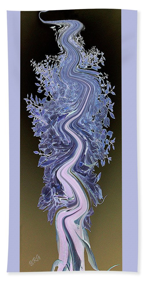 Floral Abstract Beach Towel featuring the digital art Song - Yucca Flower by Ben and Raisa Gertsberg