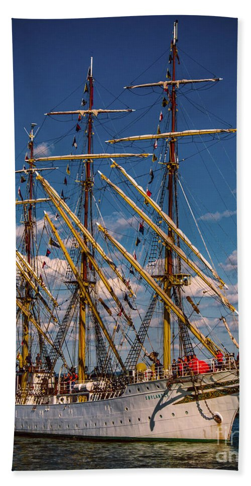 Boats Beach Towel featuring the photograph Sorlandet 1 by Kathryn Strick