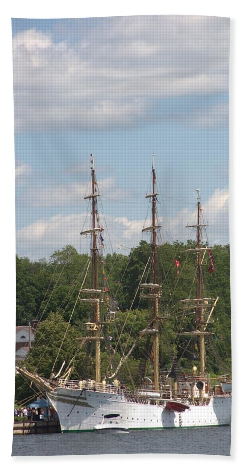 Tall Ship Beach Towel featuring the photograph Sorlandet by Valerie Kirkwood