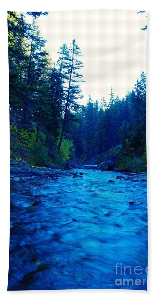 Rivers Beach Towel featuring the photograph South Fork Of The Tieton by Jeff Swan