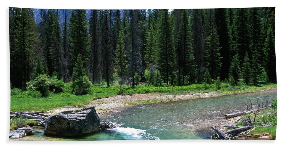 Mountains Beach Towel featuring the photograph South Fork Payette River Grandjean by Ed Riche