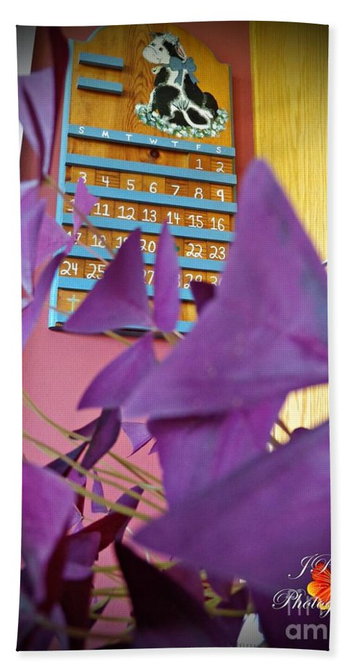 Purple Beach Towel featuring the photograph Southern Luck by Jannice Walker