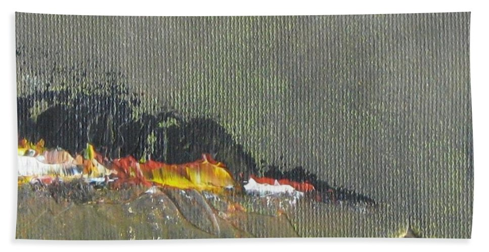 Seascape Beach Towel featuring the painting Souvenir De Vacances #26 - Memory Of A Vacation #26 by France Gionet
