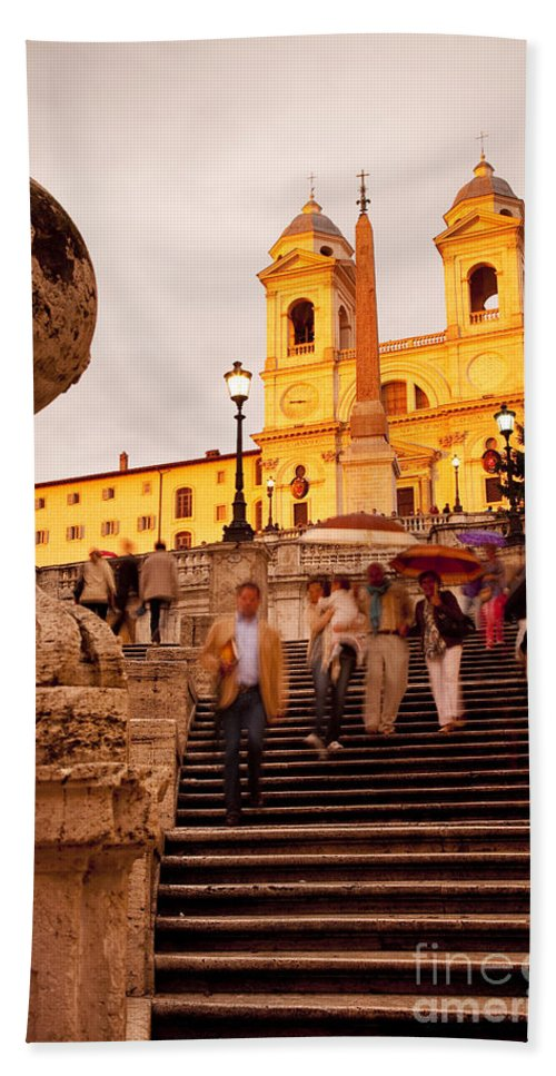 Spanish Steps Beach Towel featuring the photograph Spanish Steps by Brian Jannsen