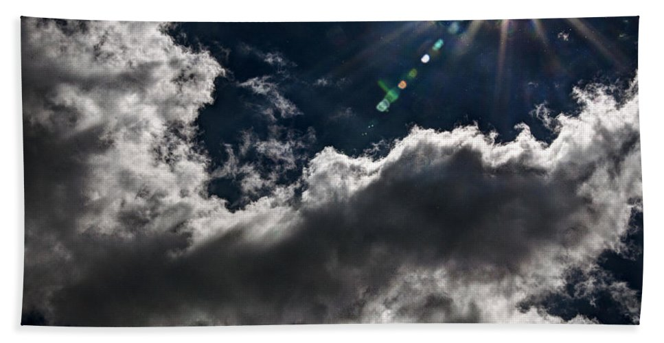 Clouds Beach Towel featuring the photograph Sparkle From Above by Deborah Klubertanz