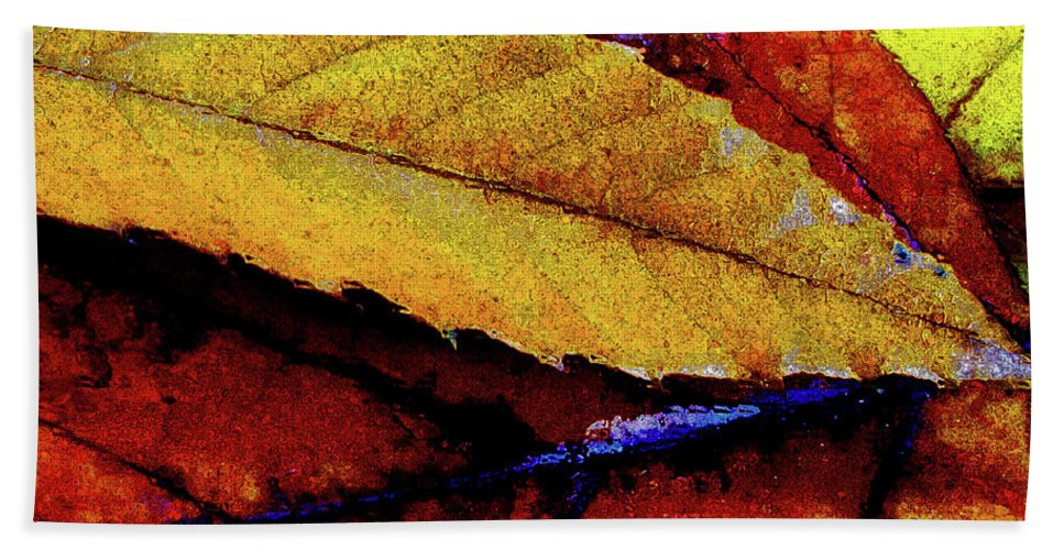 Leaf Beach Towel featuring the digital art Spearpoint by Chuck Mountain