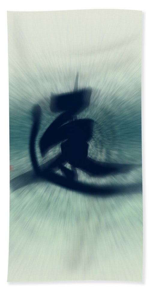 Speed Beach Towel featuring the painting Speed - Modern Japanese Calligraphy by Ponte Ryuurui