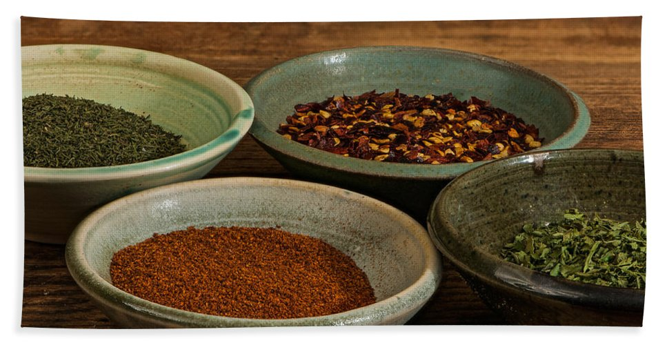 Kitchen Beach Towel featuring the photograph Spices by Randy Walton