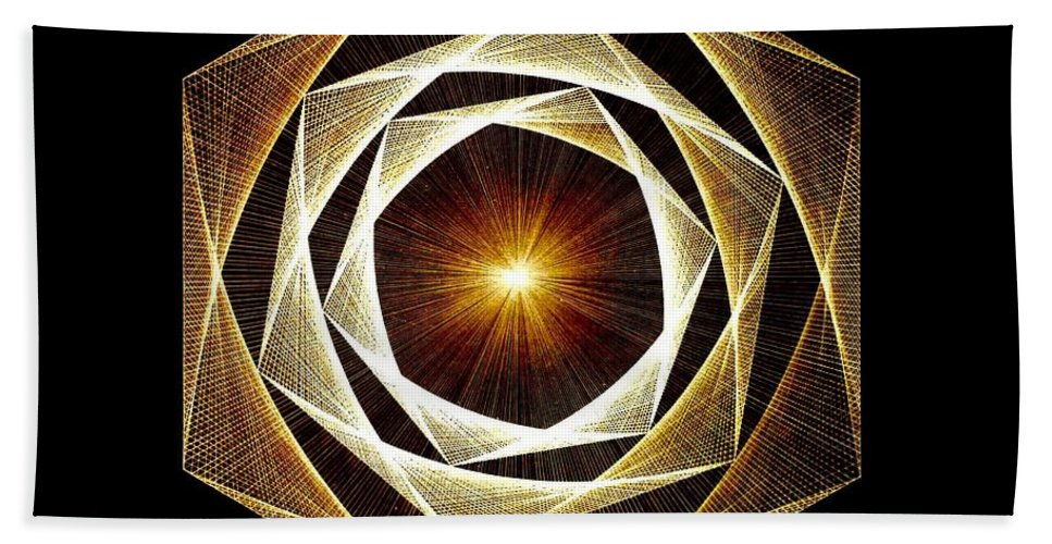 Fractal Beach Towel featuring the drawing Spiral Scalar by Jason Padgett