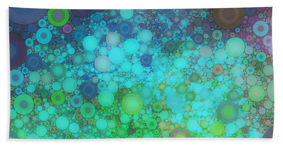 Splash Beach Towel featuring the digital art Splashdown by Linda Bailey