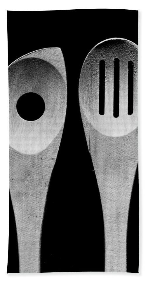Large Format Beach Towel featuring the photograph Spoons by Alex Snay
