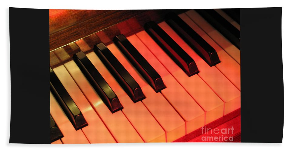 Piano Beach Towel featuring the photograph Spotlight On Piano by Ann Horn