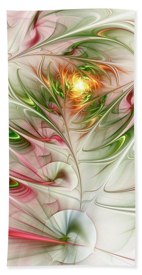Plant Beach Towel featuring the digital art Spring Flower by Anastasiya Malakhova