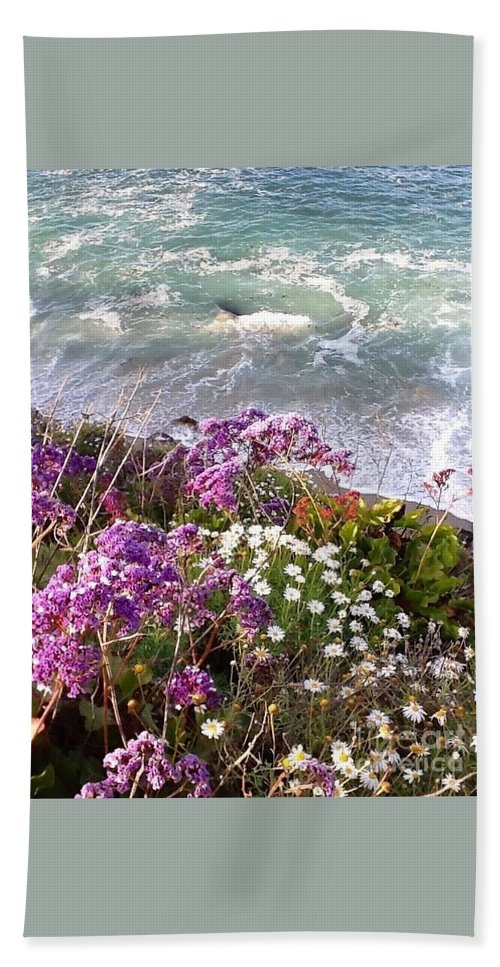 Waves Beach Towel featuring the photograph Spring Greets Waves by Susan Garren