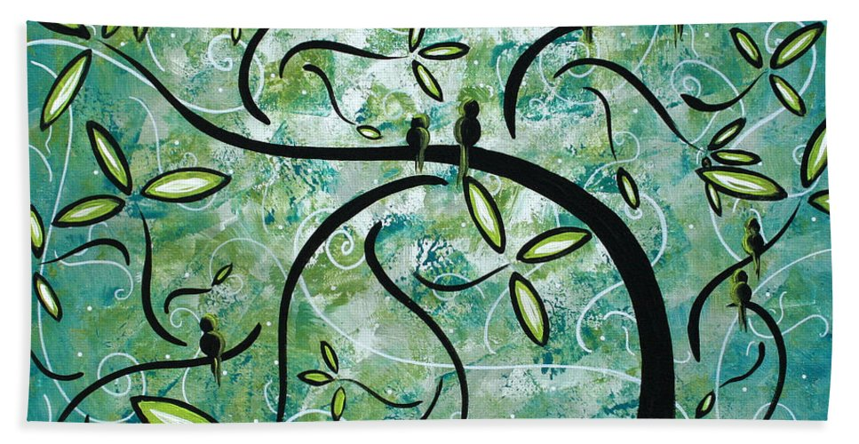 Wall Beach Towel featuring the painting Spring Shine by MADART by Megan Duncanson