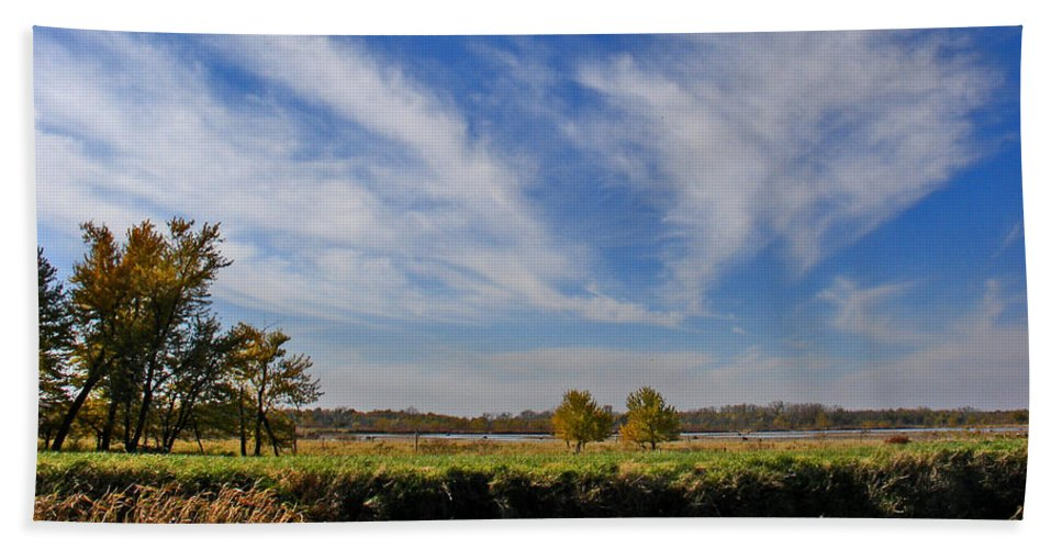 Landscape Beach Towel featuring the photograph Squaw Creek Landscape by Steve Karol