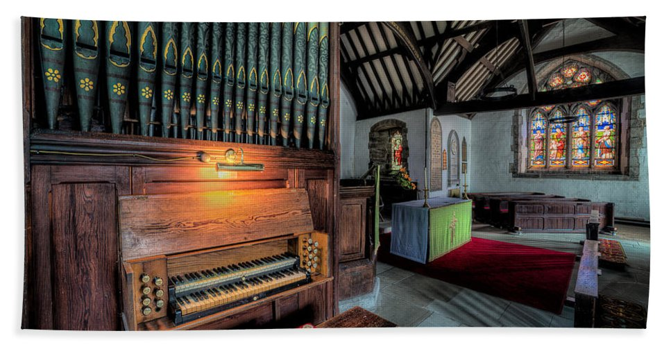 British Beach Towel featuring the photograph St Digains Church by Adrian Evans