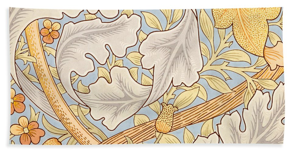 St James Beach Towel featuring the painting St James Wallpaper Design by William Morris