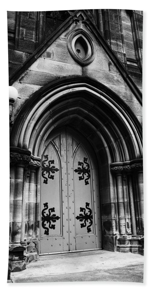 St Marys Cathedral Beach Towel featuring the photograph St Marys Cathedral Doors by Douglas Barnard