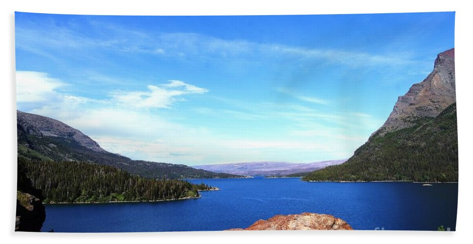 Lake Beach Towel featuring the photograph St. Mary's by Deanna Cagle