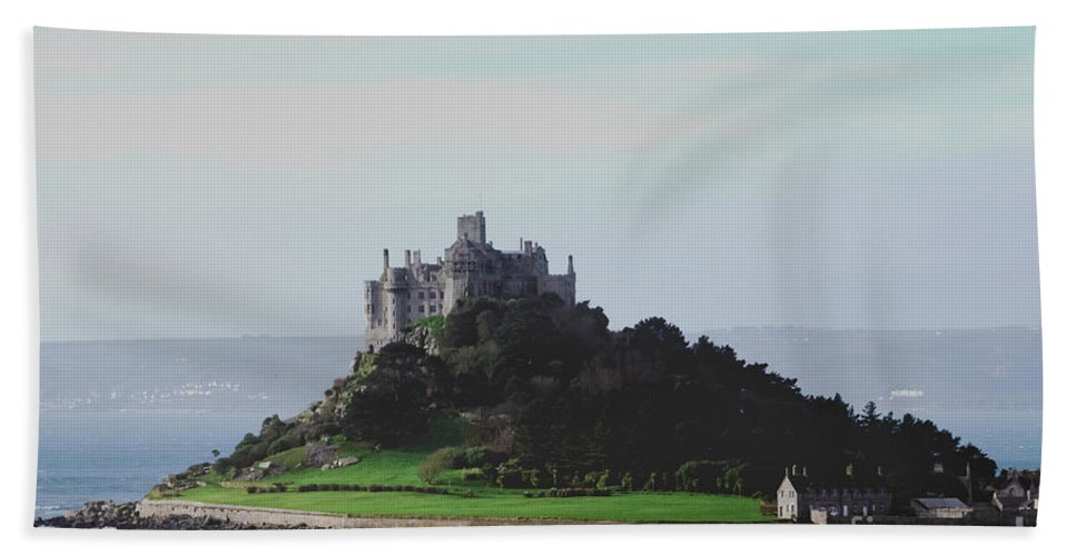 St Michael's Mount Beach Towel featuring the photograph St Michael's Mount From The East by Terri Waters