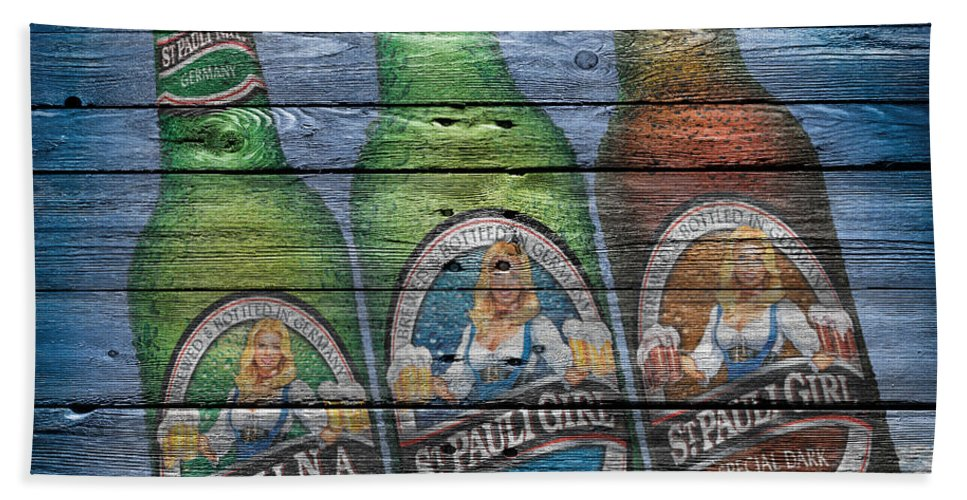 St Pauli Girl Beach Towel featuring the photograph St Pauli Girl by Joe Hamilton