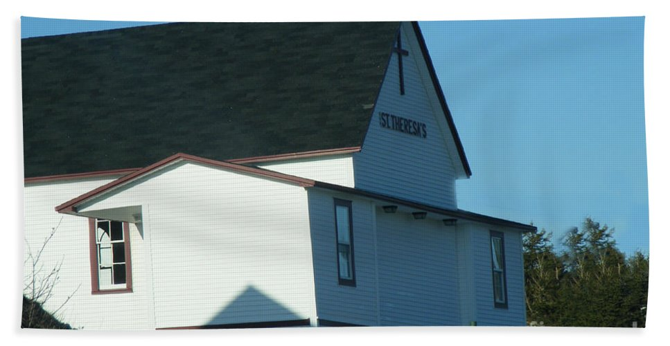 Church Beach Towel featuring the photograph St. Theresa's Church by Barbara Griffin