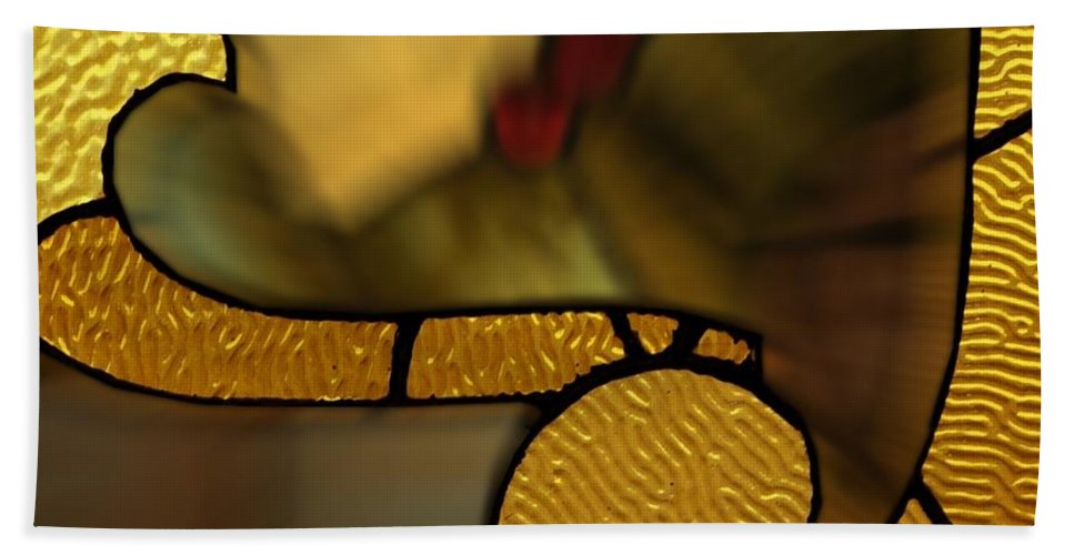 Glass Art Beach Towel featuring the photograph Stained Glass Lc 02 by Thomas Woolworth