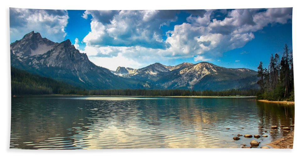 Rocky Mountains Beach Towel featuring the photograph Stanley Lake by Robert Bales