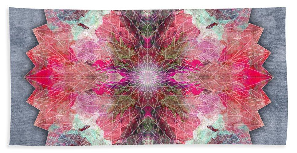 Mandala Beach Towel featuring the digital art Star Mandala B by Filippo B