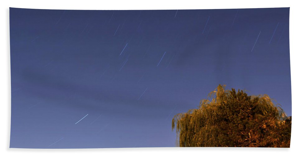 Stars Beach Towel featuring the photograph Starry Night At Hoyt Lake by Michael Frank Jr