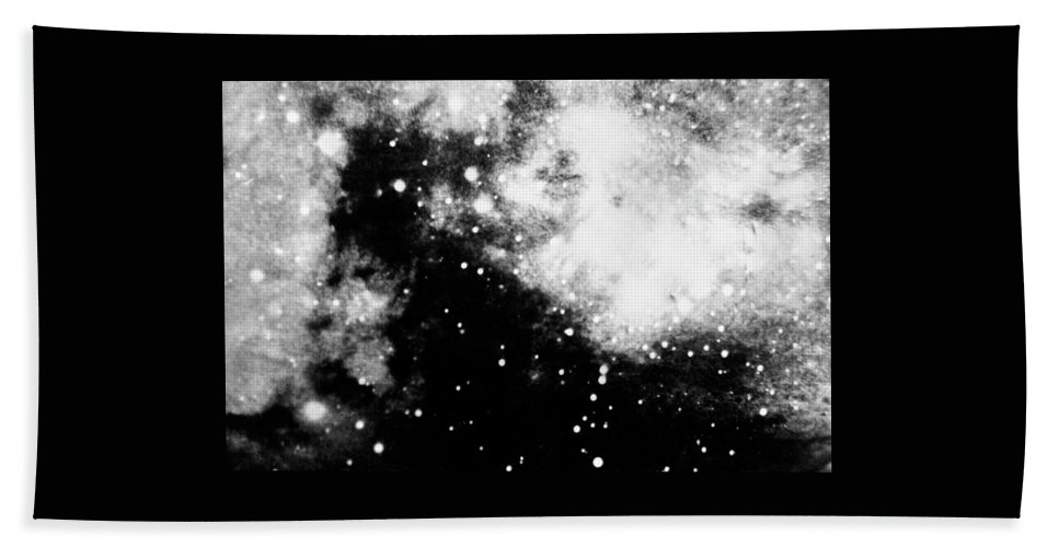 Art Beach Towel featuring the photograph Stars And Cloud-like Forms In A Night Sky by Duane Michals