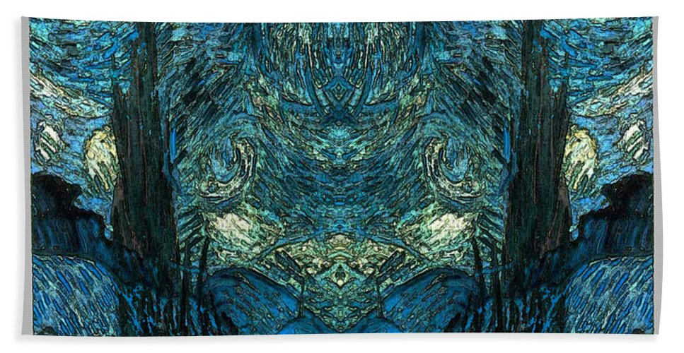 Abstract Beach Towel featuring the digital art Stary Flipped by Zac AlleyWalker Lowing