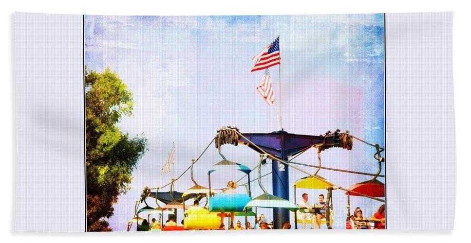 State Fair Beach Towel featuring the photograph State Fair by Beth Ferris Sale
