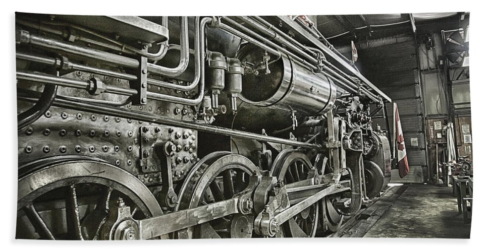 Steam Beach Towel featuring the photograph Steam Locomotive 2141 by Theresa Tahara