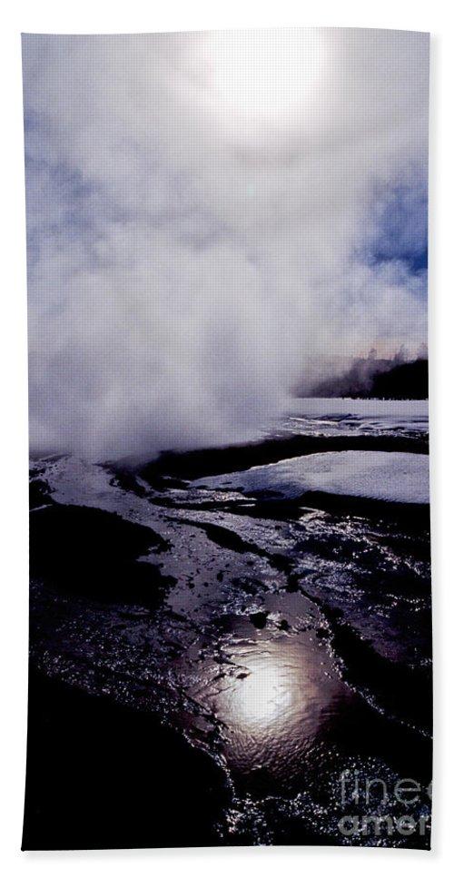 Yellowstone National Park Beach Towel featuring the photograph Steam by Sharon Elliott