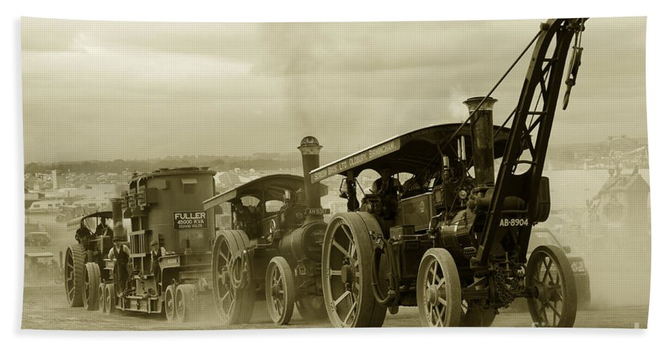 Great Beach Towel featuring the photograph Steaming Power by Rob Hawkins