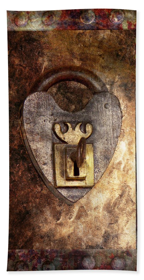 Locksmith Beach Towel featuring the photograph Steampunk - Locksmith - The Key To My Heart by Mike Savad