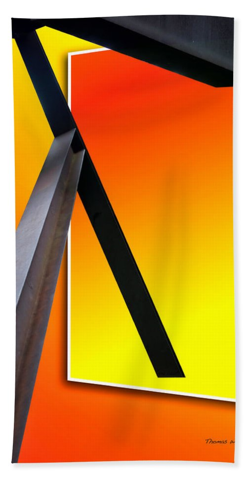 Out Of Bounds Beach Towel featuring the photograph Steel Beams 02 by Thomas Woolworth