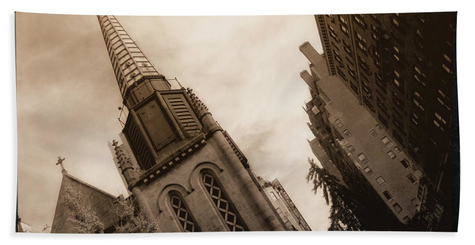 New York Beach Towel featuring the photograph Steeple Chase by Donna Blackhall