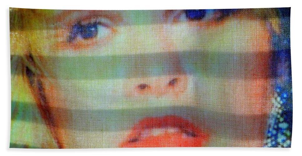 Stevie Nicks Beach Towel featuring the photograph Stevie by Ed Weidman