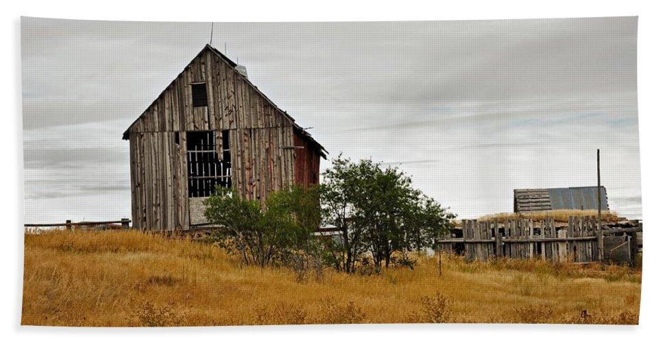 Barn Beach Towel featuring the photograph Still Standing by Image Takers Photography LLC