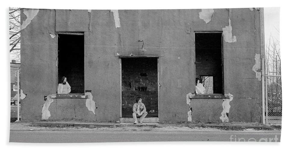 Abandoned Building Beach Towel featuring the photograph St.james 1981 by Ed Weidman