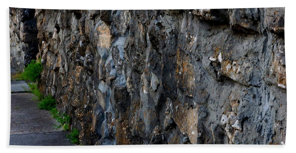 Wall Beach Towel featuring the photograph Stone Wall by Paul Wilford
