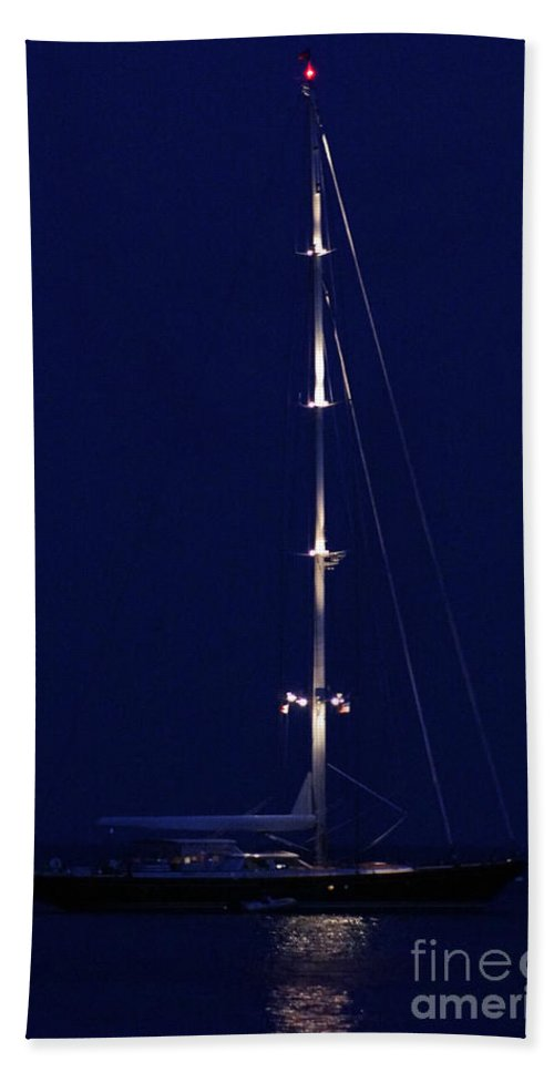 Sail Beach Towel featuring the photograph Stonington Starlight by Joe Geraci