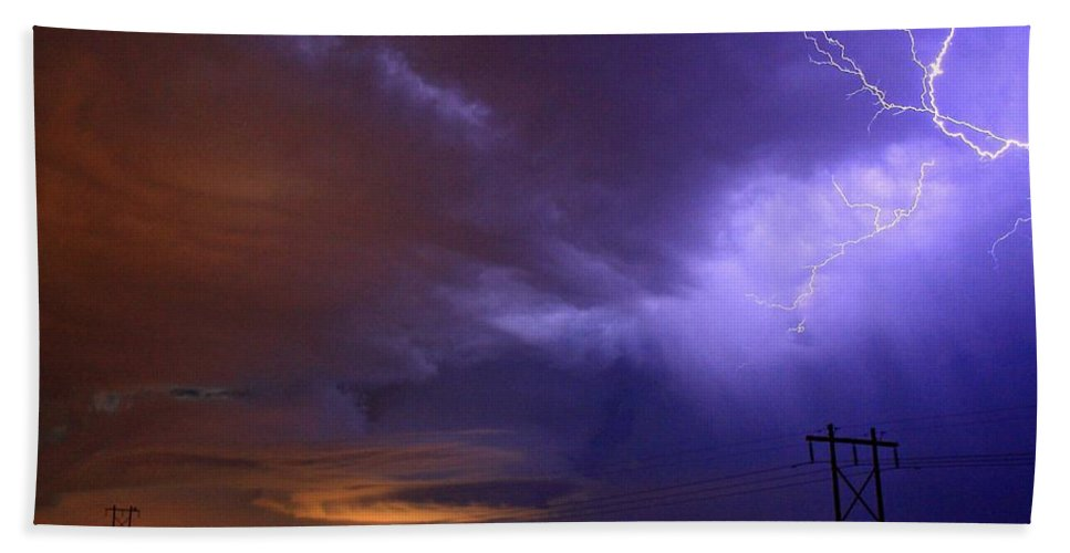 Brush Beach Towel featuring the photograph Storm Over Brush by Marcelo Albuquerque